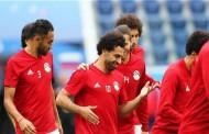 محمد صلاح  ضمن التشكيلة الاساسية لمنتخب مصر ضد روسيا