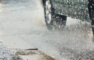 امطار غزيرة تحجب الرؤية في الطريق السيارة تونس سوسة