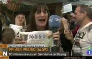 فيديو: مراسلة إسبانية  تستقيل على الهواء فرحا بالفوز باليانصيب